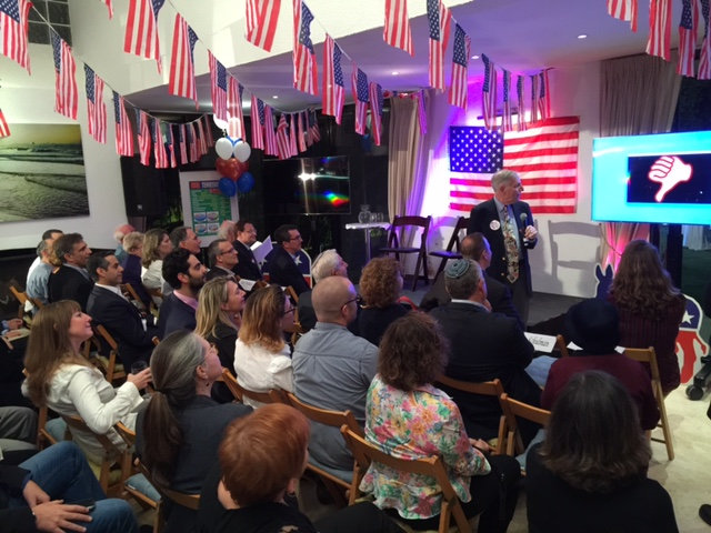 Presenting at the home of the Deputy Head of US Mission