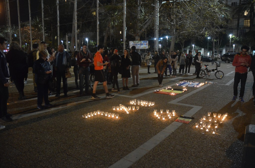 Tel Aviv hold a solidarity vigil with Brussels