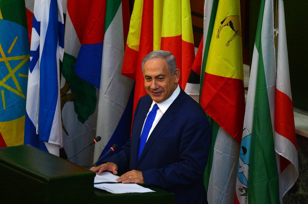 PM Netanyahu speaks before the Ethiopian Parliament.